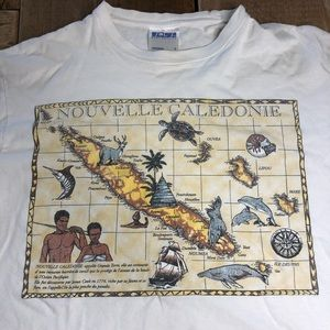 rare Nouvelle Caledonie French Map Graphic Shirt